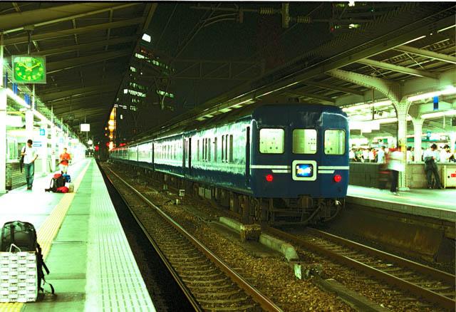 後年、就活や出張で何度か乗車した24系「銀河」 ~大阪駅・2001年7月~