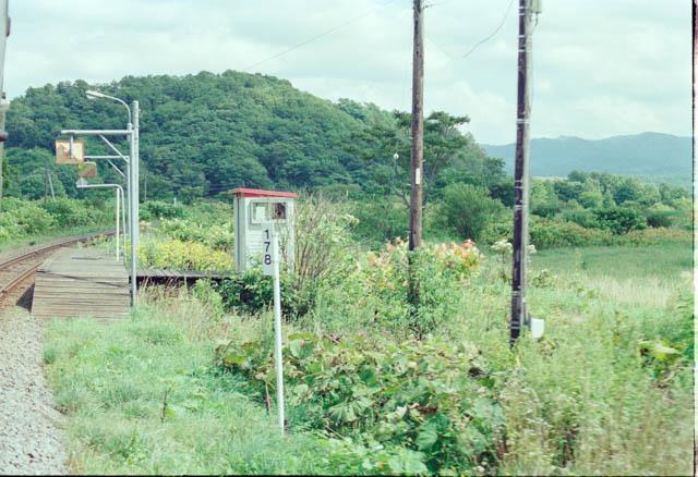 通過列車の車窓から眺めた、夏の糠南駅