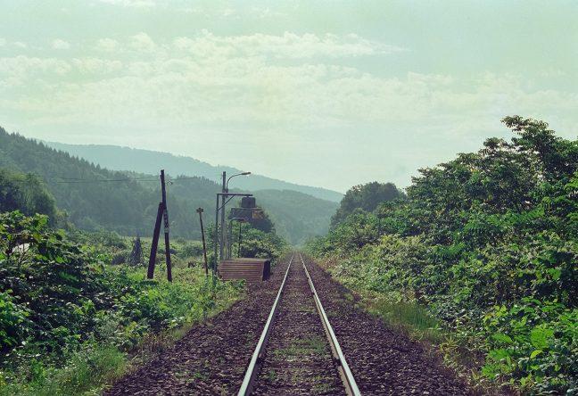 北星駅から名寄方の風景