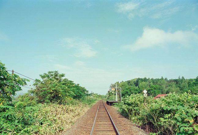 北星駅から稚内方の風景