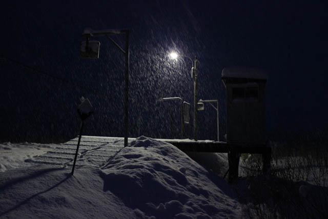 途中下車して程なく、辺りは宵闇に包まれた