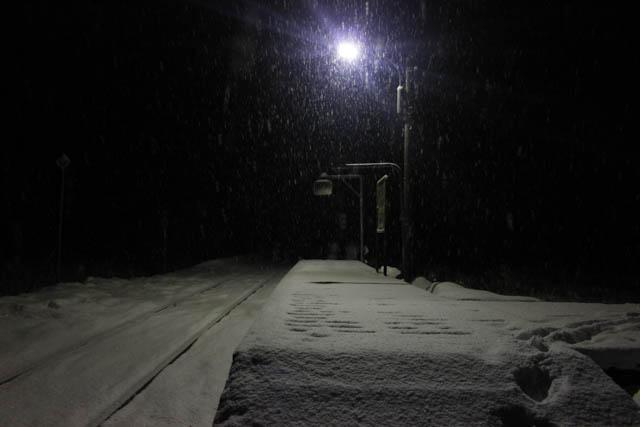 灯りの点る駅には、寂しさや孤独の中にも、どこか温かみが感じられる