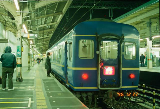 東京駅では寝台特急「出雲」などを撮影