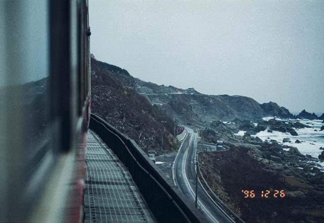 五能線の車窓風景のハイライト 大間越~岩館間