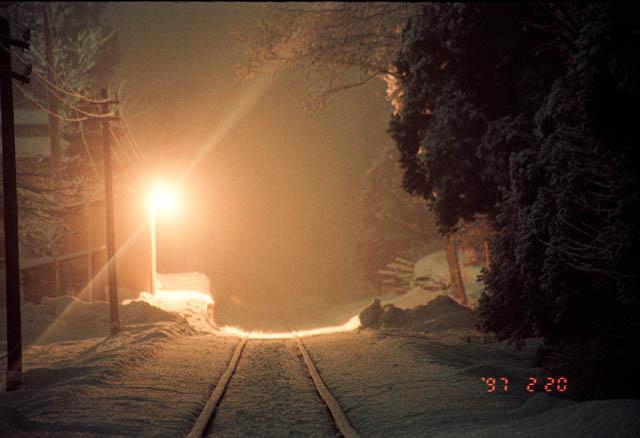 南部縦貫鉄道・道ノ上駅 ~1997年2月~