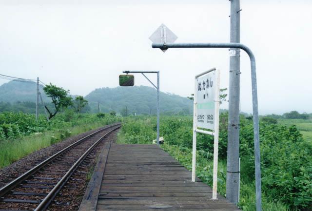 糠南駅から旭川方の風景