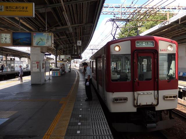 線内折返し運転の信貴線列車