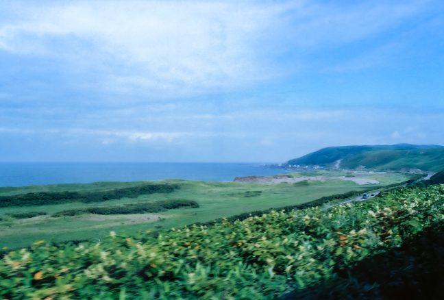 この夏も利尻水道の先に利尻島は見えなかった。抜海駅~南稚内駅間