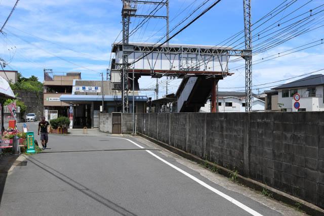 築山駅前の眺め