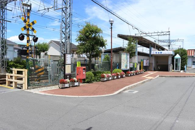 耳成駅の南口の眺め