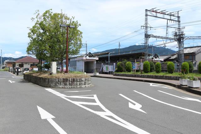 大福駅北口には、ちょっとしたロータリーがある
