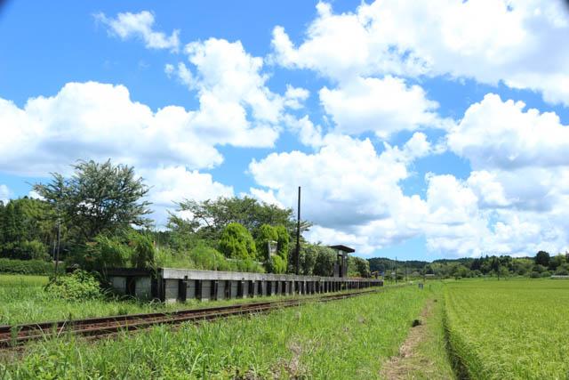 上総川間駅の全景と上総中野方面の風景