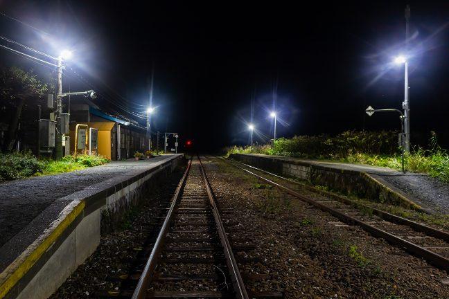 束の間の喧騒が去ると、抜海駅には静けさが戻ってくる