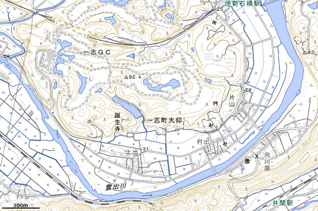 地形図:中勢鉄道跡