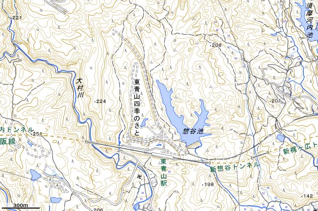地形図:東青山駅周辺