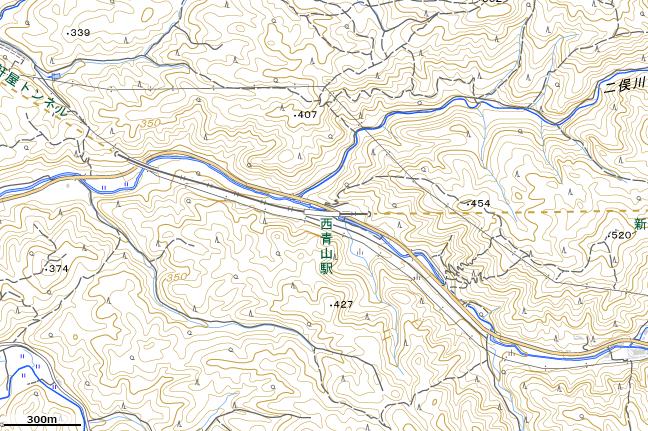 地形図:西青山駅周辺
