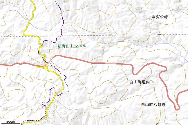 地形図:青山峠周辺