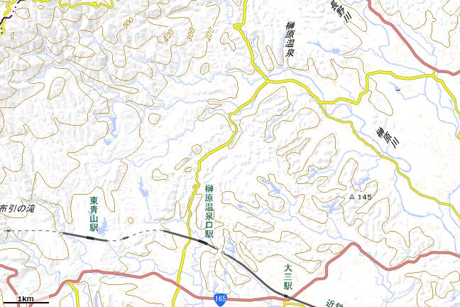 地形図:榊原温泉口駅周辺