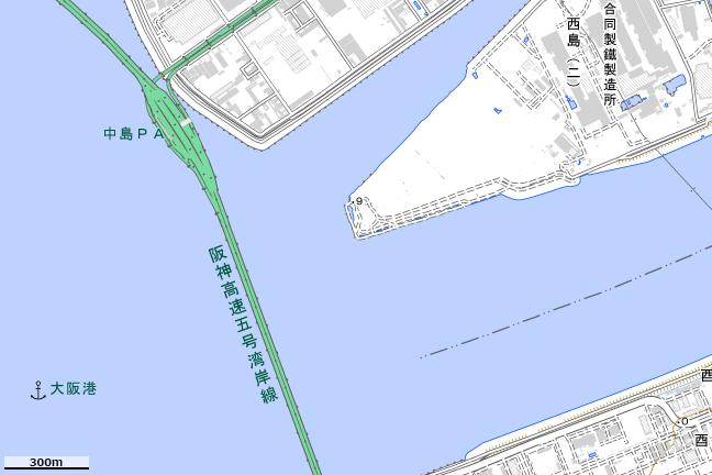地形図:矢倉緑地公園付近
