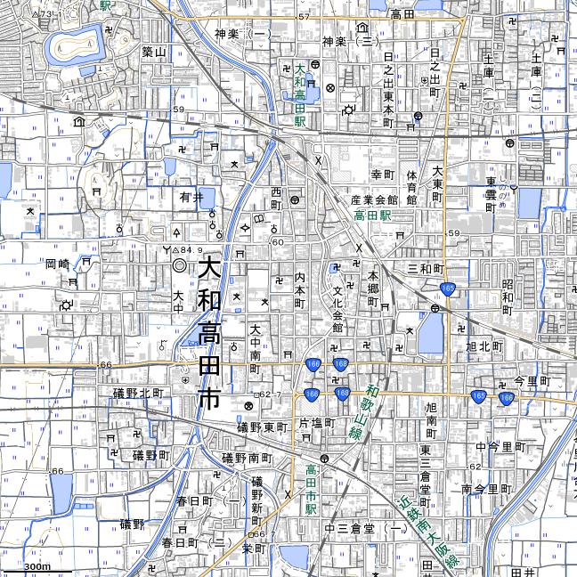 地形図:大和高田駅付近