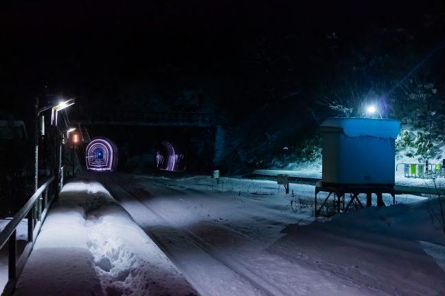 異次元への入り口のような幌内トンネル