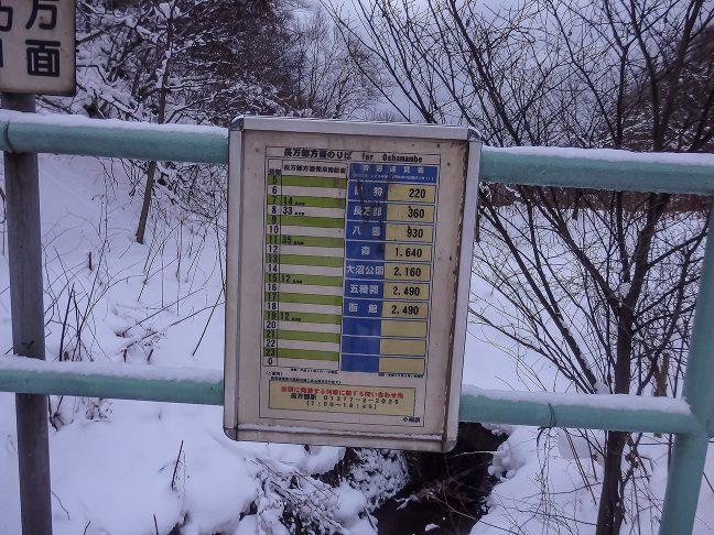 小幌駅に停車する上り普通列車は1日5本