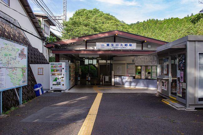 駅名が示すとおり、室生界隈への玄関口となる室生口大野駅