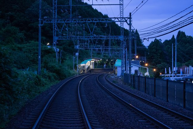 近鉄大阪線・三本松駅(奈良県:2016年7月)
