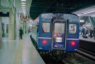 JR東海道本線・新大阪駅・夜行急行「ちくま」(大阪府:1996年12月)