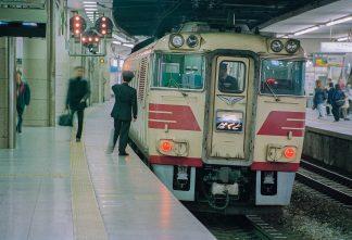 JR東海道本線・新大阪駅・特急「はくと」(大阪府:1996年12月)
