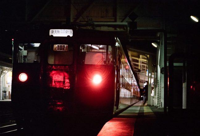 JR紀勢本線・紀伊田辺駅・新宮夜行「2921M」(和歌山県:1996年12月)