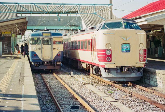 JR総武本線・銚子駅・特急「しおさい」(千葉県:1996年12月)