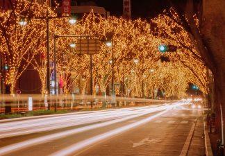 仙台市青葉通り(宮城県:1996年12月)