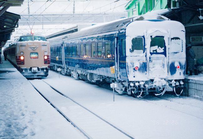JR東北本線・青森駅・寝台特急「はくつる」、特急「はつかり」(青森県:1996年12月)