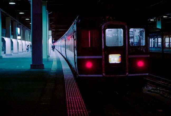 JR北陸本線・金沢駅・寝台特急「北陸」(石川県:1996年12月)