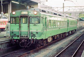 JR山陰本線・米子駅・急行「さんべ」(鳥取県:1996年12月)