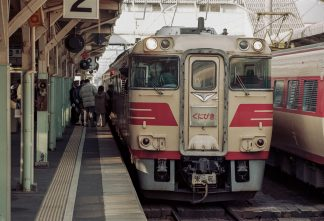 JR山陰本線・米子駅・特急「くにびき」(鳥取県:1996年12月)