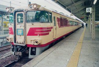 JR山陽本線・下関駅・特急「おき」(山口県:1996年12月)