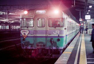 JR津山線・岡山駅・急行「砂丘」(岡山県:1996年12月)
