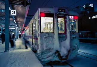 JR奥羽本線・秋田駅・特急「秋田リレー」(秋田県:1997年2月)