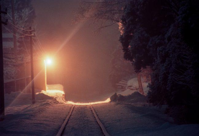 南部縦貫鉄道・道ノ上駅(青森県:1997年2月)