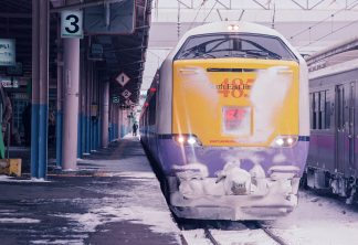 JR東北本線・青森駅・特急「はつかり」(青森県:1997年2月)
