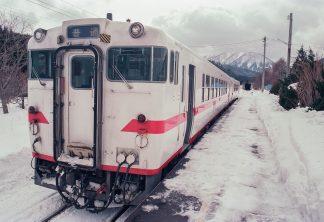 JR津軽線・三厩駅(青森県:1997年2月)