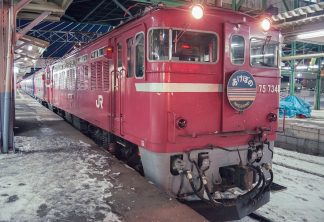 JR奥羽本線・青森駅・寝台特急「あけぼの」(青森県:1997年2月)