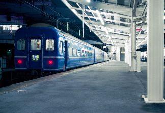 JR東海道本線・新大阪駅・寝台特急「なは」(大阪府:1997年12月)