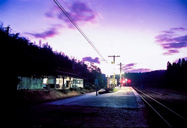 JR肥薩線・大畑駅(熊本県:1998年1月)
