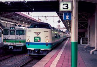JR信越本線・新潟駅・特急「みのり」(新潟県:1998年2月)