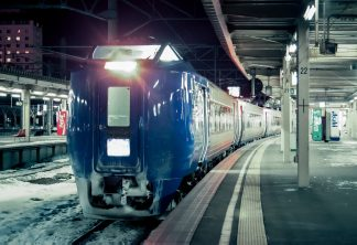 JR函館本線・函館駅・特急「スーパー北斗」(北海道:1998年2月)