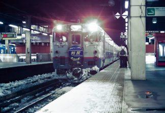 JR函館本線・札幌駅・急行「利尻」(北海道:1998年2月)