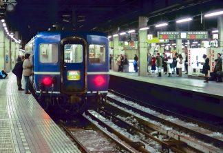 JR宗谷本線・札幌駅・寝台急行「はまなす」(北海道:1998年2月)